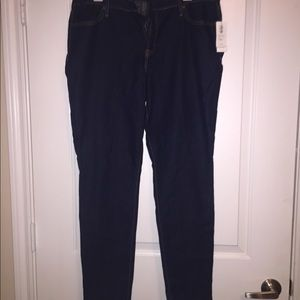 NWT Super Skinny dark wash jeans